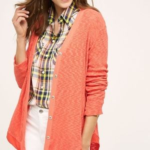 Left of Center Anthropologie Evie Cardigan Orange